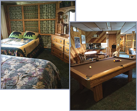 Bedroom and Pool Table